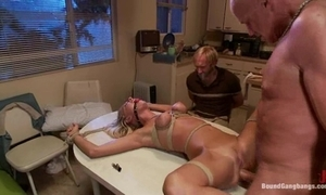 Bound gangbang required in the matter of a bar-room and screwed