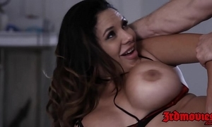 Lady-killer missy martinez jiggles big chest while pounded