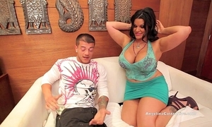 Chubby titted angelina castro copulates a tourist!?