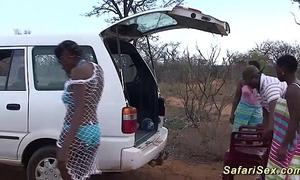Neglected african safari mating orgy