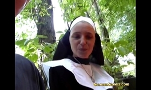 Laughable german nun can't live without cock