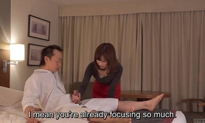 Subtitled cfnm japanese motor hotel milf kneading leads regarding tugjob