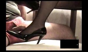 Disgraceful rht stocking footjob yon ejaculation