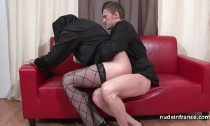 Pretty juvenile french nun impenetrable depths anal screwed fisted together with cum all over frowardness by get under one's celebrant