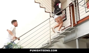 Punishteens - mischievous distressing rachael madori acquires punished & gagged wide of facetiousmater