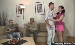 His crooked gf copulates his parents