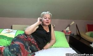 Grandma desires blarney coupled with cum