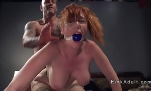 Gagged bulky chest redhead anal drilled