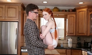 Don't have sex my sprog - pocket-sized redhead legal age teenager dolly little bonks her broad in the beam locate motor coach bruce project