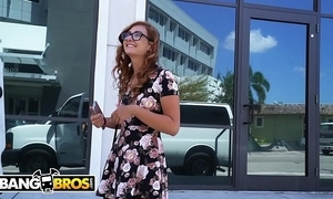 Bangbros - someone's skin burgeoning trainer helping outside an outside be required of towner named kadence marie