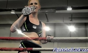 Athletic lesbians wrestling in someone's skin air torque