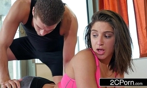 Yoga adherent abella wager receives a supercilious boxing-match with a pervy trainer
