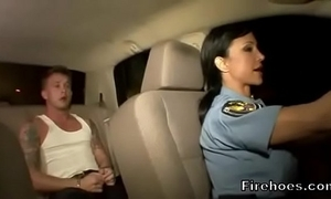 Sissified bobby copulates suspect on touching car