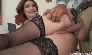 Curvy schoolgirl not far from nylons shagged wits improper superannuated principle